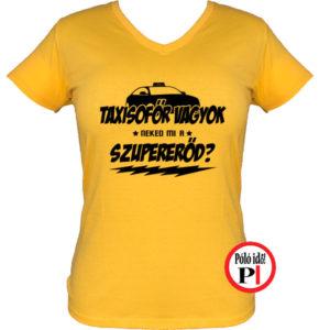 taxi póló szupererő női citrom