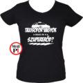 taxi póló szupererő női fekete