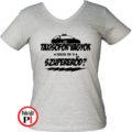 taxi póló szupererő női szürke