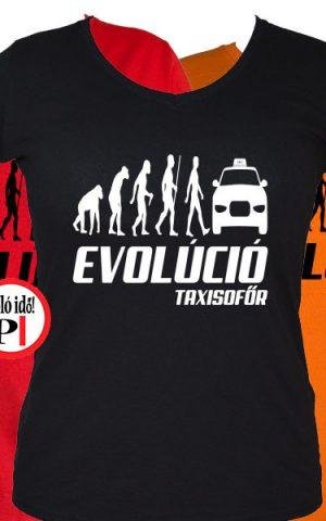taxi póló taxi evolúció női