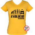 taxi póló taxi evolúció női citrom