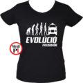 taxi póló taxi evolúció női fekete