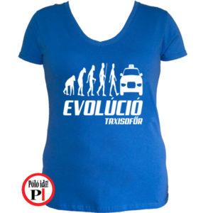 taxi póló taxi evolúció női kék
