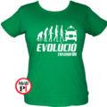 taxi póló taxi evolúció női zöld