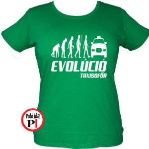 Női Taxi Evolúció póló
