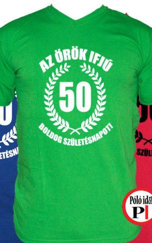 vicces póló örök ifjú 50