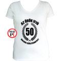 vicces póló örök ifjú 50 női fehér