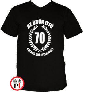vicces póló örök ifjú 70 fekete