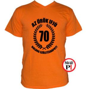 vicces póló örök ifjú 70 narancs