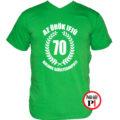 vicces póló örök ifjú 70 zöld