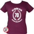 vicces póló örök ifjú 70 női burgundi