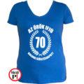 vicces póló örök ifjú 70 női kék