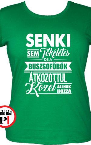busz póló tökéletes női zöld