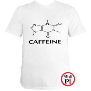 kávé póló caffeine fehér