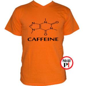kávé póló caffeine fekete