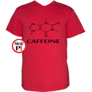 kávé póló caffeine piros