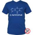 kávé póló caffeine kék