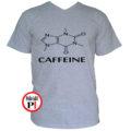 kávé póló caffeine szürke