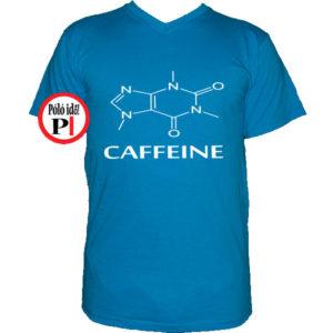 kávé póló caffeine vkék