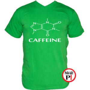 kávé póló caffeine zöld