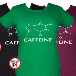 kávé póló caffeine női