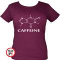 kávé póló caffeine női burgundi
