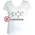kávé póló caffeine női fehér