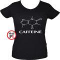 kávé póló caffeine női fekete