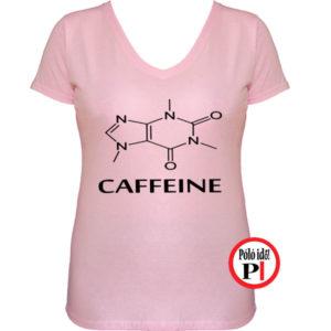 kávé póló caffeine női pink