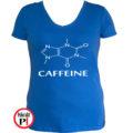 kávé póló caffeine női kék