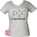 kávé póló caffeine női szürke