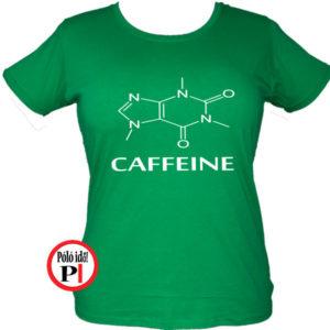 kávé póló caffeine női zöld