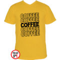 kávé póló coffee citrom