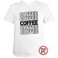 kávé póló coffee fehér