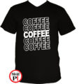 kávé póló coffee fekete