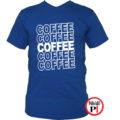 kávé póló coffee kék
