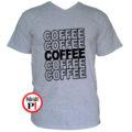kávé póló coffee szürke