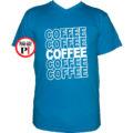 kávé póló coffee vkék