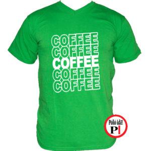 kávé póló coffee zöld