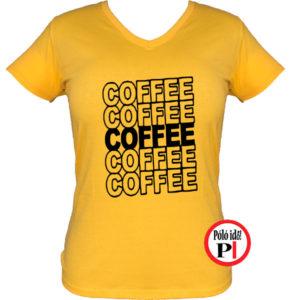 kávé póló coffee női citrom