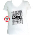 kávé póló coffee női fehér