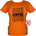 kávé póló coffee női narancs
