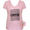 kávé póló coffee női pink