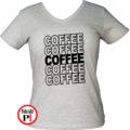 kávé póló coffee női szürke