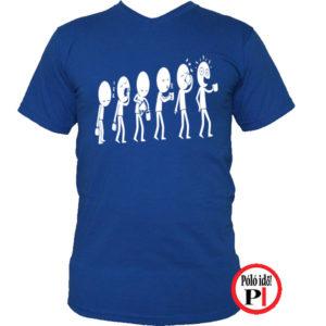 kávé póló evolúció kék