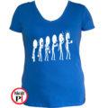 kávé póló evolúció női kék
