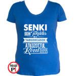 targoncás póló tökéletes női kék
