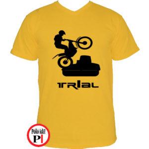 trail póló trialer citrom