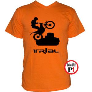 trail póló trialer narancs