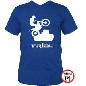 trail póló trialer kék